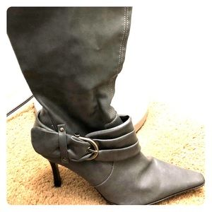 Rampage Gray Faux Leather Boots